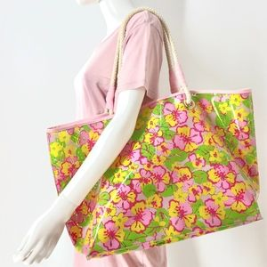 MakeAnOffer Lily Pulitzer Beach Tote Large EUC